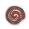 Glass Bead Swirl Transparent Dark Red Matt Gold Painted Strung 12x11mm